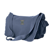 Authentic Pigment 14 oz. Pigment-Dyed Raw-Edge Messenger Bag