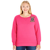 LAT Ladies' Curvy Slouchy French Terry Pullover